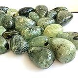 Natural Prehnite Stone Crystal Gravel Aquarium Ornament Jelly Apple Green para la decoración del hogar-100 gramos_aproximadamente 30-50mm