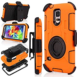 powerful J.west S5 Case, Galaxy S5 Holster Case, Defender Hybrid Dual Layer Combo Armor Case …