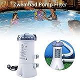 Settlede Krystal Clear Cartridge Filter Pump for Above Ground Pools, 2006 L/hr (530 gals) Filter Pump Suitable for INTEX28604/58604 10ft-12ft Pools, 220V-240V(1pcs)