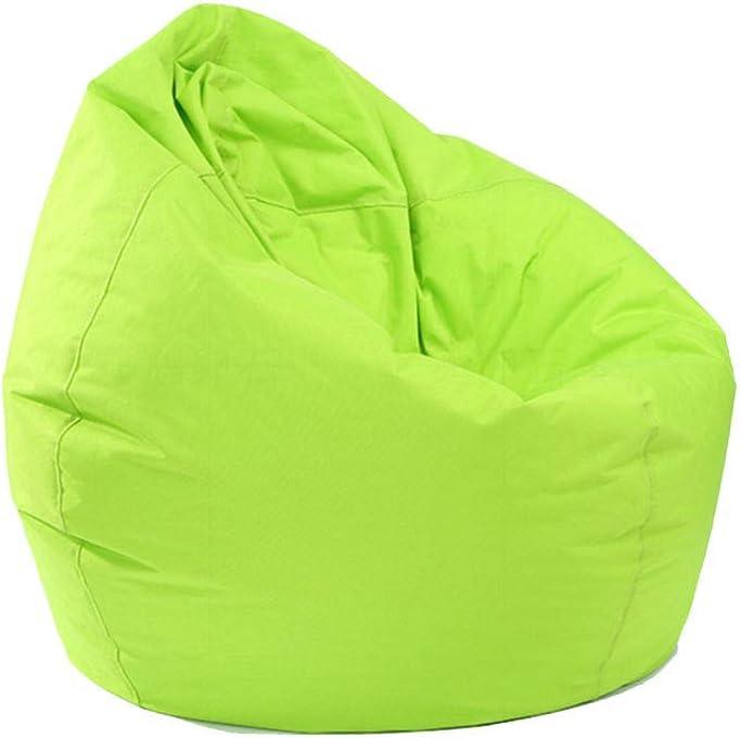 sans remplissage chaise longue paresseuse extra large et lavable pouf de rangement pour chaises d/'int/érieur ext/érieur vert Pouf N //A pour adultes et enfants