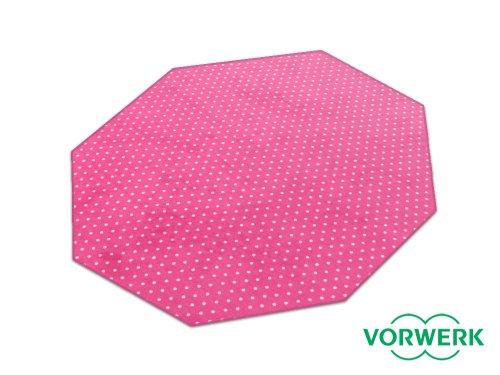 HEVO Laufgitter Einlage und Unterlage Vorwerk Petticoat pink Teppich 200x200 cm Achteck