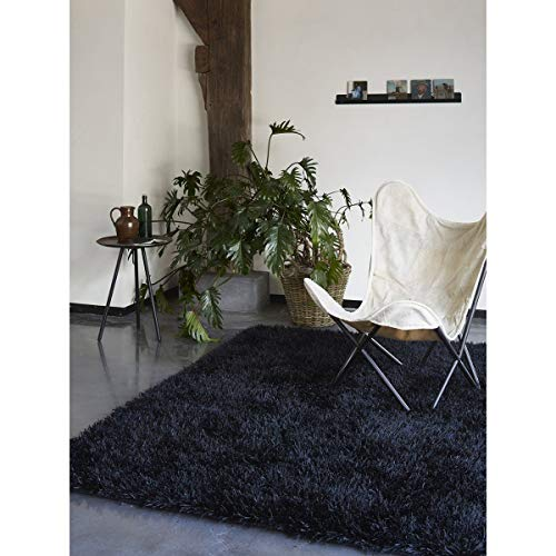 ESPRIT Cool Glamour Moderner Markenteppich, Polyester, Schwarz, 300 x 200 x 5 cm