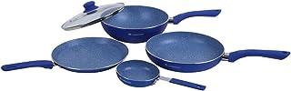 Wonderchef Royal Velvet Induction Base Aluminium Cookware Set, 5-Pieces, Blue