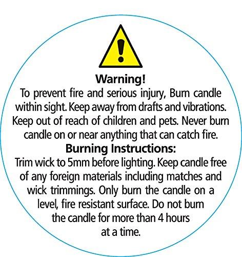 Candle Instruction - Warning Labels 35mm Round (100)