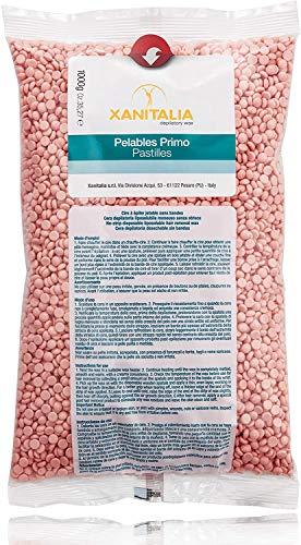 Xanitalia Cera Brasiliana Rosa in Perle per la Depilazione di Tutto il Corpo Senza l'utilizzo di Strisce - 1 kg