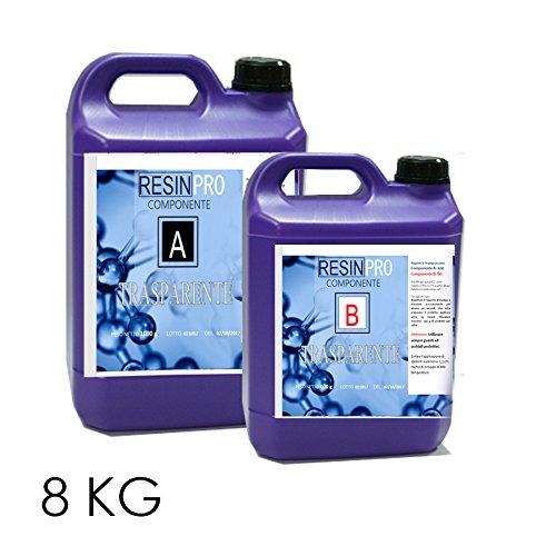 Resina epoxi transparente, 8 kg, efecto agua