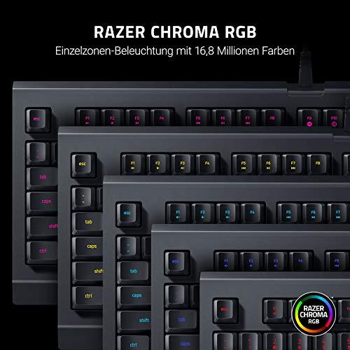 Razer Cynosa Lite - Gaming Tastatur mit weichen gefederten, membranen Schaltern (Voll programmierbar, RGB Chroma Beleuchtung) QWERTZ | DE-Layout, Schwarz