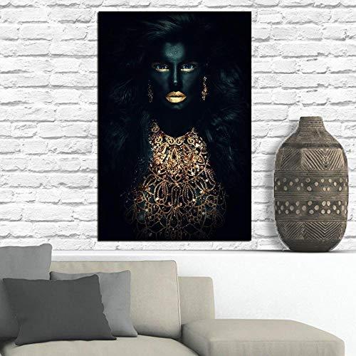 SADHAF Home Decor Bild Abstrakter schwarzer Plakatdruck auf Leinwand Wandkunst Wohnzimmer Wandbild A1 30x40cm