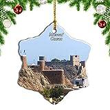 Weekino Oman Muscat Décoration de Noël Ornement Suspendu Porcelaine Décoration Noël Ornements pendentifs Sapin Noël Cadeaux Souvenir Voyage