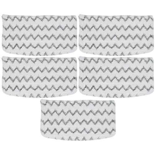 VILLCASE 5 Piezas Almohadillas de Microfibra para Mopa de Vapor Lavables Almohadillas de Repuesto para Vaporizador de Limpieza Compatibles con La Mopa de Vapor de Tiburón