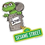 Popfunk Sesame Street Logo and Oscar The Grouch Collectible Stickers