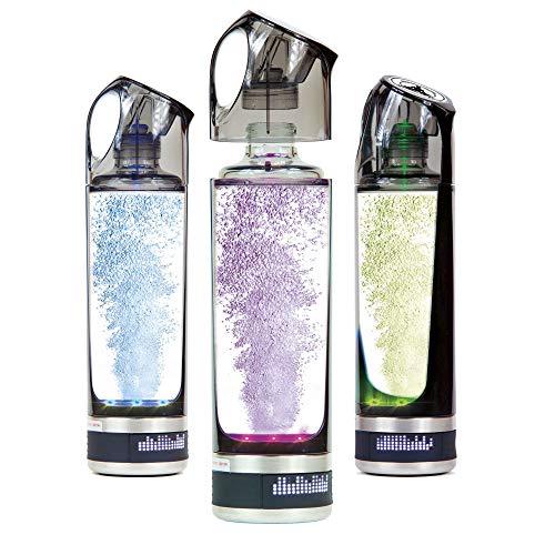 DETOX Botella portátil Recargable de Agua hidrogenada con purificador y generador de hidrógeno para Oficina, hogar, casa y Deporte, Negro, Tamaño Único