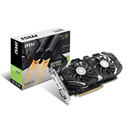 MSI GeForce GTX 1060 6GT OCV1 6GB Nvidia GDDR5 1x HDMI, 1x DP, 1x DL-DVI-D, 2 Slot Afterburner OC, VR Ready, 4K-optimiert, Grafikkarte