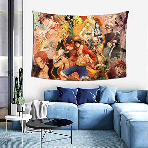 GIPHOJO Tapestry ONE PIE-CE Hippie Tapestries Anime Wall Art Hanging Cartoon Wall poster Bed Dorm Home Living Room Apartment 60x40 inches Decor Gifts