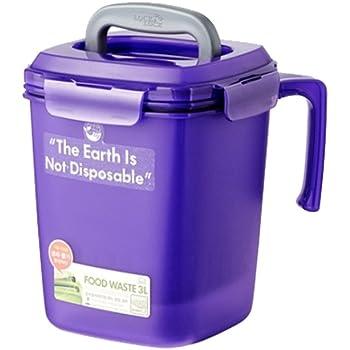[ロックアンドロック] Lock&Lock Food Food Waste Bin 密閉型 家庭用生ごみ処理機 3L [並行輸入品] (Purple)