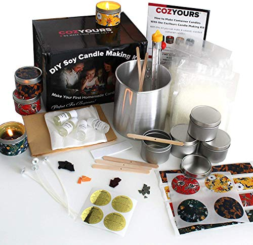 Cozyours DIY Soy Candle Making Kit for Beginners, Complete Candle Making Supplies Kit