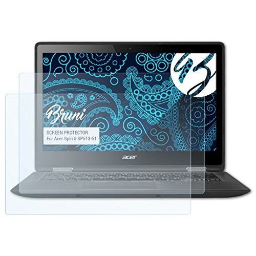 Bruni Pellicola Protettiva Compatibile con Acer Spin 5 SP513-51 Pellicola Proteggi, Cristallino Proteggi Schermo (2X)