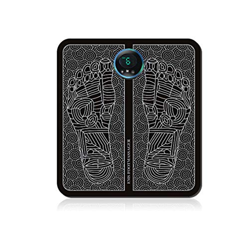 N /A Electric Foot Massager Mat, Pulse Foot Massager Cushion Folding Portable Massage Foot Pad EMS Foot Massage Machine USB Charging For Circulation Boost Muscle Pain Relief