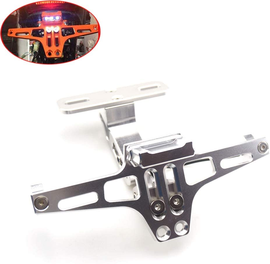Motorcycle LED Light Sales results No. 1 License Plate Aluminum Eliminato Fender National uniform free shipping CNC