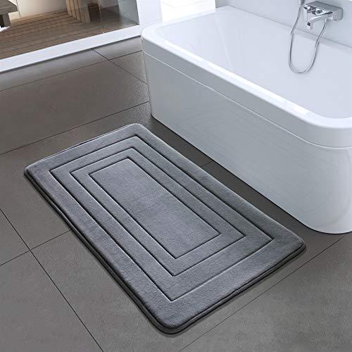 DaFei Sencillo Vida Alfombras de Baño Alfombrilla de Baño Antideslizante Mullido Poliéster Suave para Sala de Estar/Cocina/Dormitorio de Interior/Exterior (Size : 40x60cm)