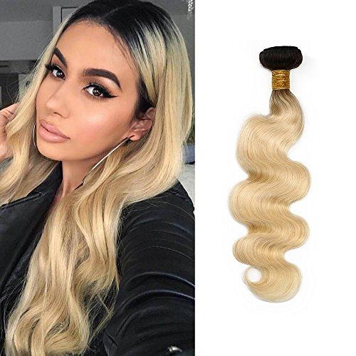 Mila Bresilienne 8A Tissage Naturel Ombre Blond 1B/613# Couleur Naturelle Meches Ondules 100% Remy Humain Cheveux Extensions 100g/boule 16\