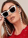 Bohend Moda Cadena de gafas de sol Perla Cadena de mascarilla Mujeres Accesorios de cadena de gafas Para Gafas de sol y mascarillas
