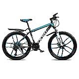 Bicicleta de montaña Bicicletas carretera adolescente adulto Bicicletas MTB Bicicleta Ciudad Amortiguador de bicicletas de montaña de velocidad ajustable for hombres y mujeres de doble freno de disco