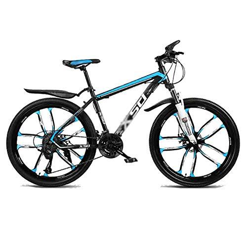 Mountain Bike Bicicleta para joven Bicicletas carretera adolescente adulto Bicicletas MTB Bicicleta Ciudad Amortiguador de bicicletas de montaña de velocidad ajustable for hombres y mujeres de doble f