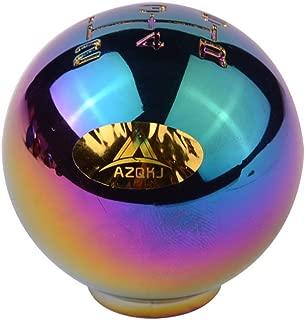 AZQKJ Round ball shape Chrome Aluminum 5 Speed Manual Transmission Stick Shift Knob Universal Fit For Honda Acura Mazda Mitsubishi Nissan Infiniti Lexus Toyota Scion