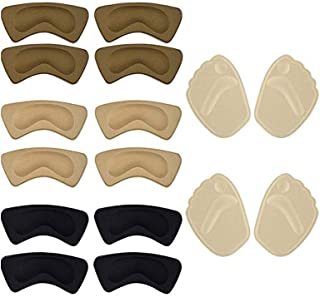 8 Pairs Anti Slip Shoe Heel Grips Liners Ball High Heel Cushion Pads Metatarsal Pads of Foot Insoles Inserts