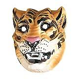 Photo de NET TOYS Tigres Masque Masque de Tigre Brun Animal Masque Chat Sauvage Masque d'animal Costume Accessoire Mardi Gras Carnaval