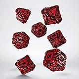 Q-workshop Tech Dice RPG Set (Rojo & Negro)