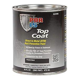POR-15 45908 Top Coat Chassis Black Paint 16 fl. oz.