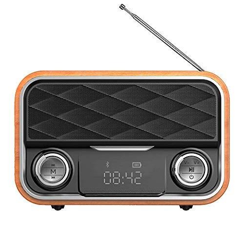 RetroRadio Bluetooth,Retroradio mit Antenne,Klarer Sound, tragbarer hoher Bluetooth-Lautsprecher mit kompatiblem Android-Tablet