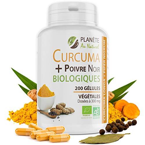 Curcuma et Poivre Noir Bio 300mg - 200 gélules...