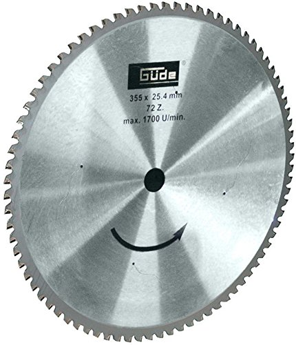Güde 40539 Metallkreissägeblatt 350 T, 355 mm, 72 Zähne