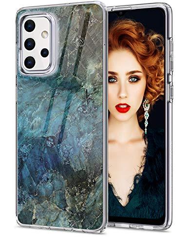 18eay Compatible con Samsung Galaxy A32, funda de silicona de mármol, fina, transparente, suave, TPU Galaxy A32, funda transparente antigolpes
