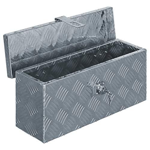 vidaXL Aluminiumkiste Silbern Alubox Aluminiumbox Transportkiste Alukoffer - 4