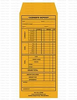 """Cashier Depot EZ400 Cashier's Deposit Report Envelope, 4 1/8"""" x 9 1/2"""", Heavy 24 LB (100 Envelopes)"""