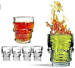 BENTEX LUXURY GLASSWARES Glass Whiskey Shot Glass-6 Pieces, Clear, 60 ml
