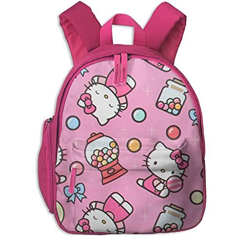 Hello Kitty - Mochila con caramelos para niñas, mochila grande para viajes escolares, mochilas para niños pequeños