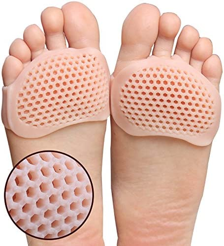 Metatarsal Pads 4 Pcs Ball of Foot Cushions for Rapid Pain Relief Soft Sole Soft Gel Ball product image