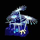 Silicona que brilla intensamente el tanque de peces artificiales del acuario de los peces del acuario Adorno bajo el agua Ascidian lechuga anémona coral planta decoración accesorios ( Color : 13 )