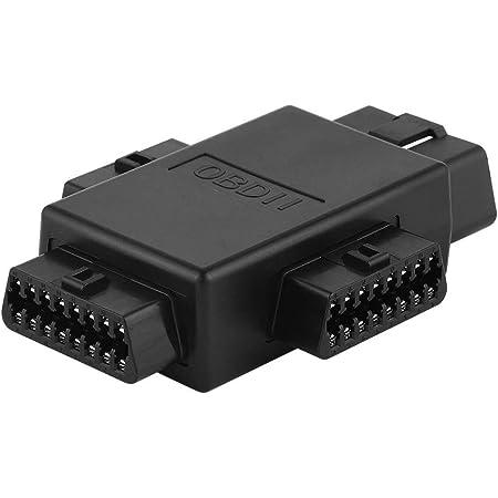 iKKEGOL Pocket OBD2 OBDII Full 16 Pin Male to 3 Female 1 to 3 OBD Cable Splitter Converter Adapter for Diagnostic Extender