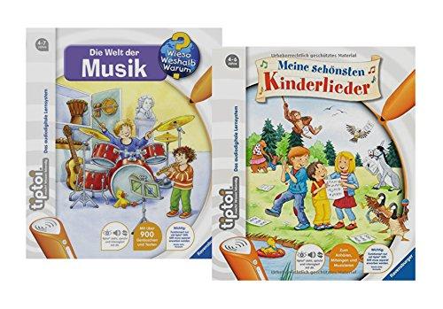 tiptoi Ravensburger Bücher Set - Meine Schönsten Kinderlieder und Die Welt der Musik