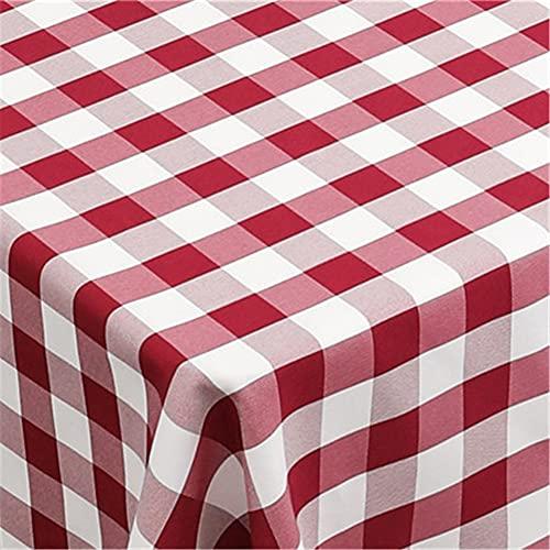 KYJSW 2 Pezzi Tovaglia, Copritavolo Plaid Lavabile in Poliestere, per Tavoli da Pranzo, Tavolini da caffè, Tavoli Portaoggetti, Scrivania (Azzurro,160X160cm)