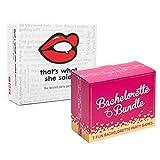 That's What She Said Game and Bachelorette Bundle - Bachelorette Party Games Bundle