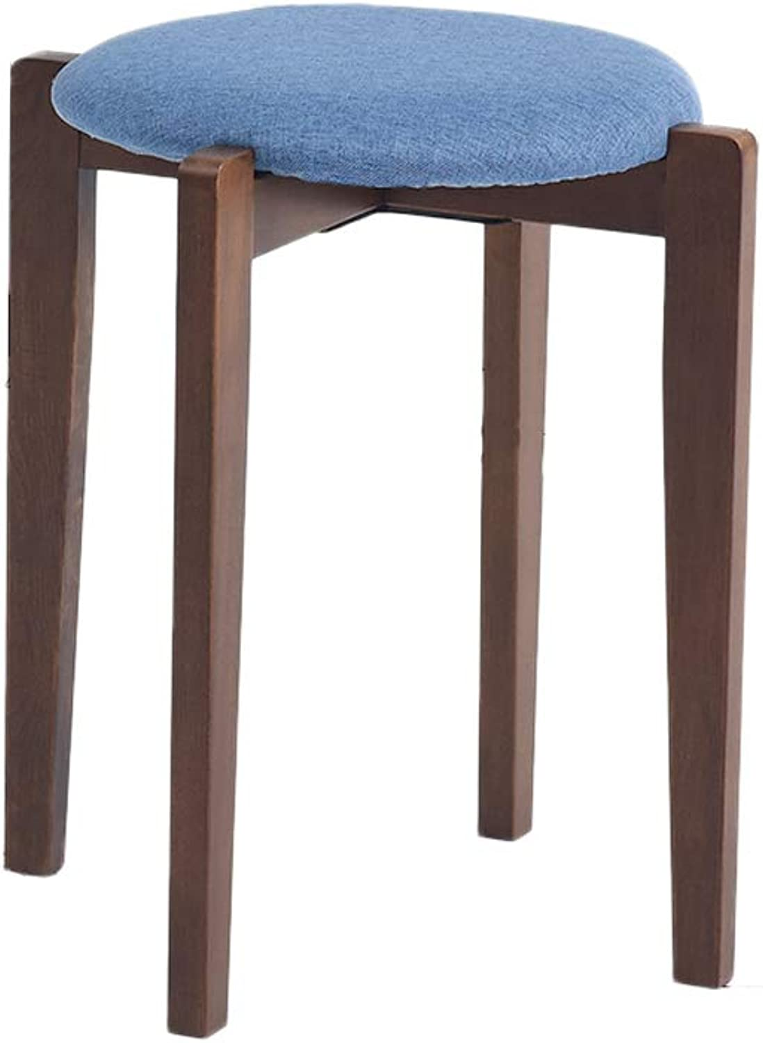 Walnut Beech Wood Chair Stool, Stylish and Creative Modern Dining Table Bench for Dining Room Living Room (color   D)