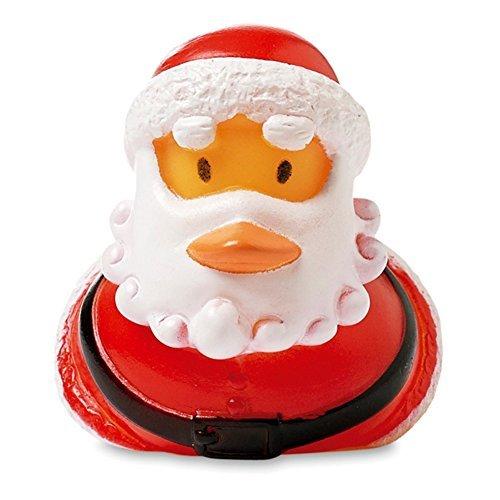 Weihnachtsmann Weihnachtsente Badeente Quietscheente Gummiente Santa Claus für Weihnachten von notrash2003