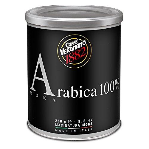 Caffè Vergnano 1882 Lattina Caffè 100% Arabica Macinato Moka- 12 confezioni da 250 gr (totale 3 Kg)